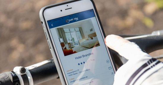 kostenfreie Bett+Bike-App - Navigationshilfe für Unterwegs | Bild: ADFC Bett+Bike