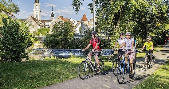 Radfahrer in Crailsheim (Foto: Jan Bürgermeister)