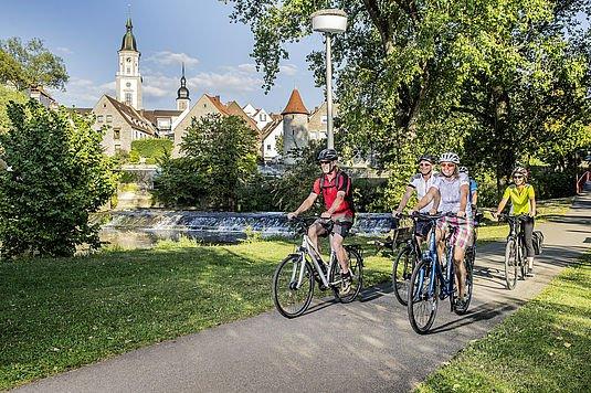 Kocher-Jagst-Radweg in Crailsheim an der Jagst