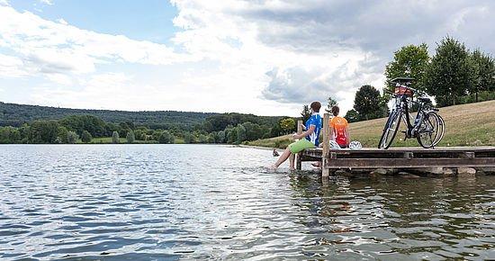 Badesee Ehmetsklinge im Naturpark Stromberg-Heuchelberg