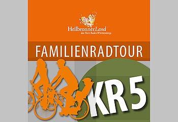 Routenplakette KR5 - Familienradtour Kraichgau