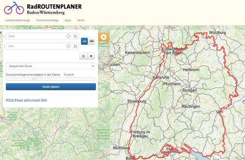RadROUTENPLANER Baden-Württemberg - Tourenplanung leicht gemacht