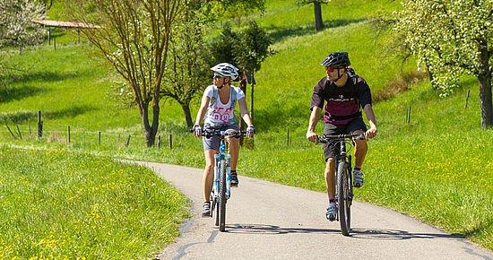 Radfahrer auf der BühlerTour (Foto: Michael Schultz)
