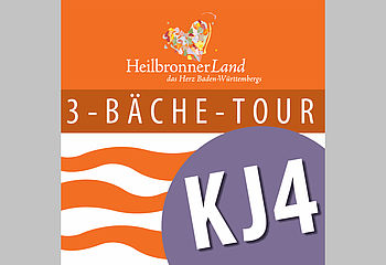 "Routenplakette KJ4 ""3-Bäche-Tour"""