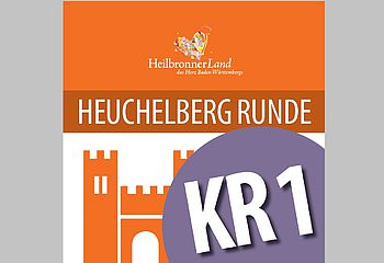 """Routenplakette KR1 - Radtour """"Heuchelberg Runde"""""""