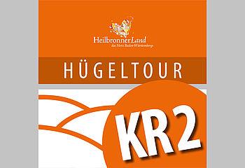 "Routenplakette KR2 - Radtour ""Hügeltour"""