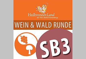 Routenplakette SB3 - Wein & Wald Runde Schozachtal
