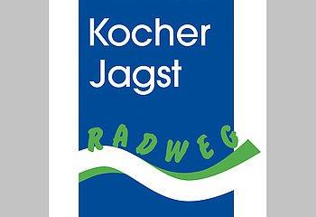 Routenplakette KJ1 - Kocher-Jagst-Radweg