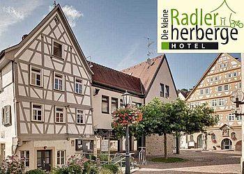 HL_Möckmühl_Hotel Kleine Radlerherberge_bett+bike