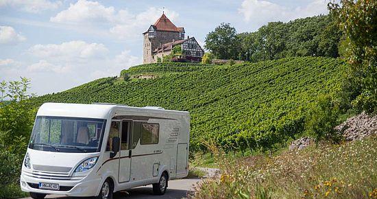 Wohnmobiltouren an Kocher, Jagst und Neckar - Vom Stellplatz aus ins Radvergnügen starten