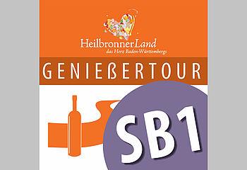 Routenplakette SB1 - Genießertour Schozachtal