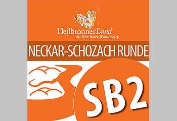 Routenplakette SB2 - Neckar-Schozach-Runde