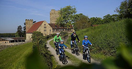 Radfahren auf dem Württemberger Weinradweg