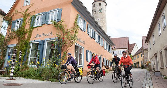 Radler in Kirchberg an der Jagst (Foto: Michael Schultz)