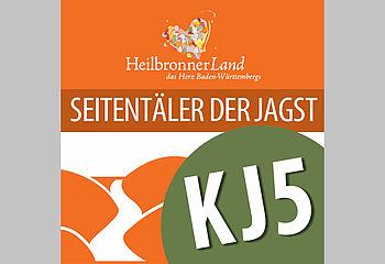 Routenplakette KJ - Seitentäler der Jagst