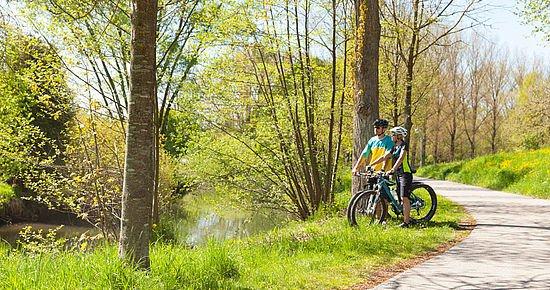 Radfahrer an der Bühler (Foto: Michael Schultz)
