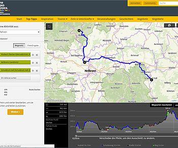 Radtourenplaner Baden-Württemberg - Tourenplanung leicht gemacht