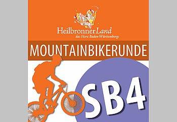 Routenplakette SB4 - Montainbikerunde Schozachtal