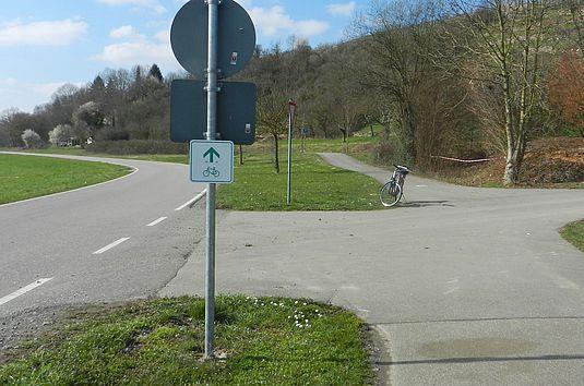 Radwegebeschilderung