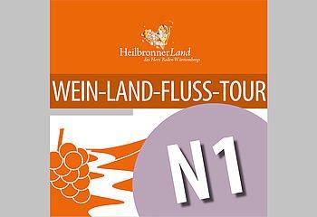 Routenplakette N1 - Wein-Land-Fluss-Tour