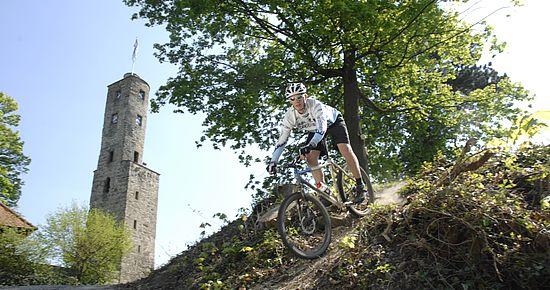 Mountainbiken bei Burg Löwenstein