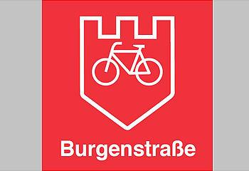 Routenplakette Burgenstraßen-Radweg